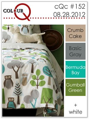 colourQ: colourQ challenge #152...: Bedding, Duvet Sets, Kidsroom, Owls Duvet, Duvet Cover, Dwellstudio, Boy Room, Kids Rooms