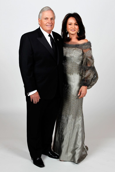 Team owner Rick Hendrick poses with his wife Linda during the NASCAR Sprint Cup Series awards banquet at the Wynn Las Vegas Hotel on December 3, 2010