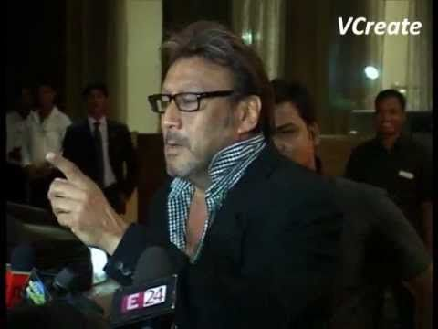 Jackie Shroff at Bappi Lahiri's son Bappa Lahiri's wedding reception.