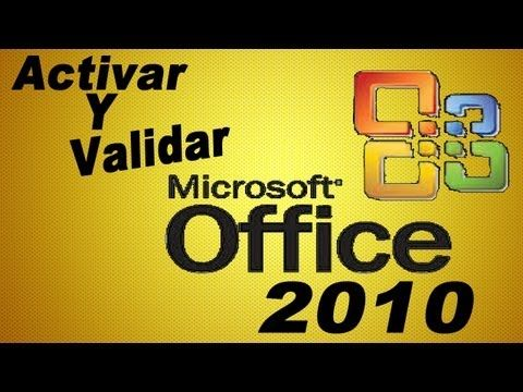 Activar Y Validar Microsoft Office Professional Plus 2010 - YouTube