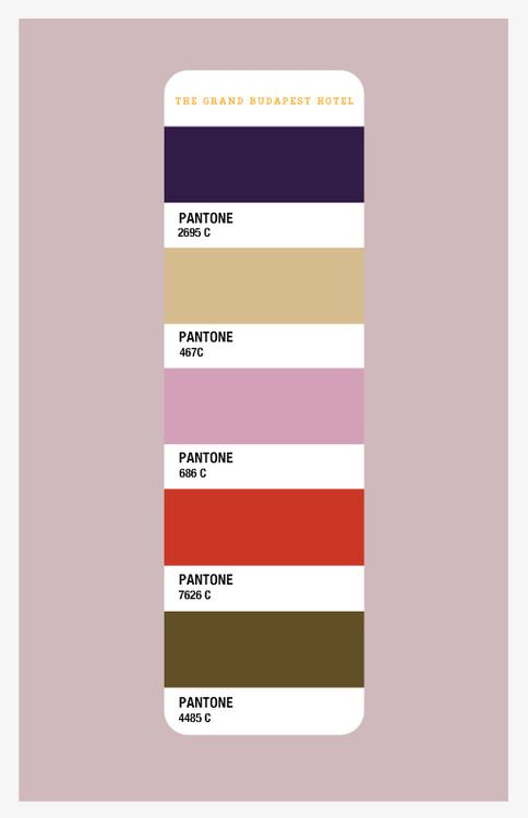 The Grand Budapest Hotel Color Palette