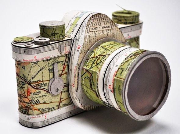 Cámara de fotos de papel