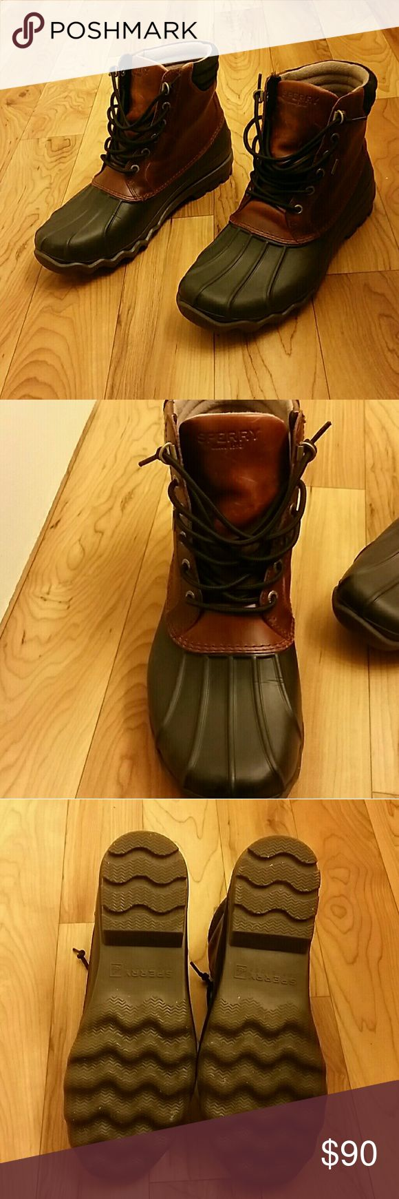 Sperry Duck Boots Men's Sperry duck boots. In great condition. Some scratches throughout the shoe as shown in picture 4. Sperry Shoes Boots