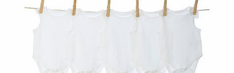 Bhs Boys Unisex 5 Pack White Sleeveless Bodysuits, Our essential 5 pack of sleeveless bodysuits are a wardrobe staple. Featuring poppers at the gusset and envelope neckline for easy wear. Take a look through our new Little Essentials starter kits, per http://www.comparestoreprices.co.uk/baby-clothing/bhs-boys-unisex-5-pack-white-sleeveless-bodysuits-.asp