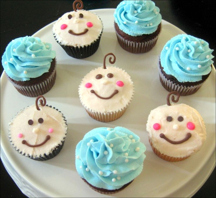11 best images about cupcakes on pinterest baby girl for Baby cake decoration ideas