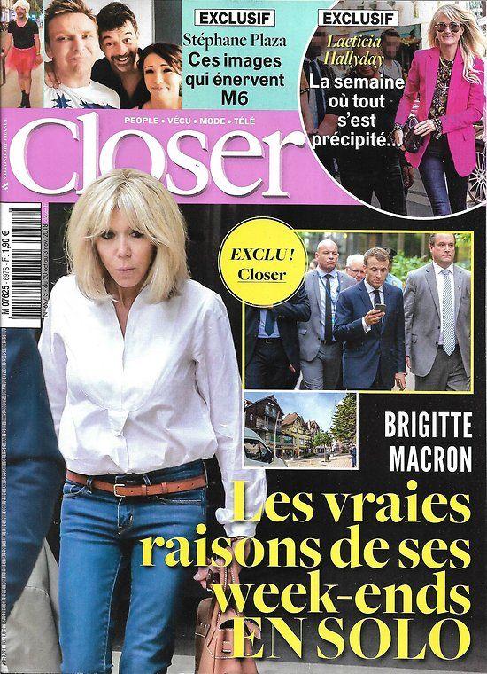 CLOSER n°697 19/10/2018 Brigitte Macron/ Stéphane Plaza