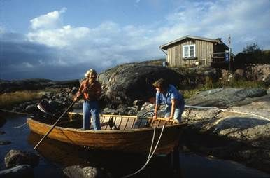 The Victoria boat that Tove Jansson and Tuulikki Pietilä went to and from Klovharun, far out in the Porvoo archipelago.