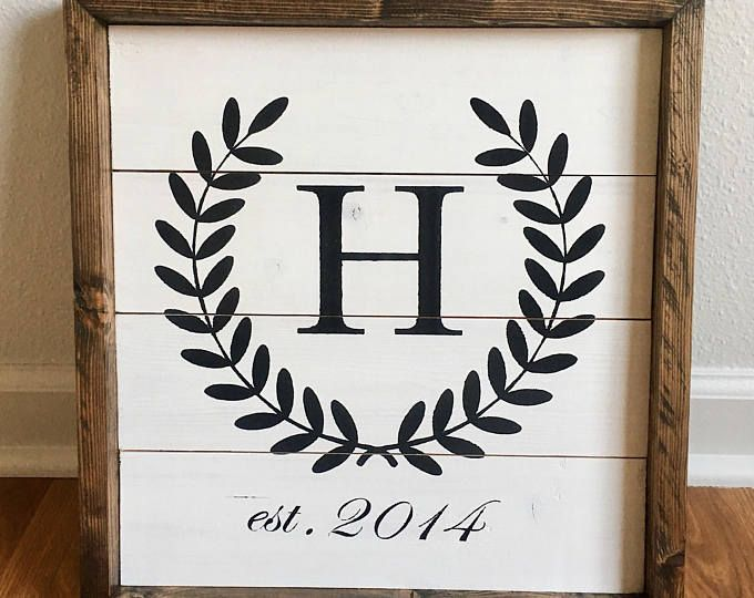 Framed Shiplap Custom Sign | Shiplap Inspired Sign | Personalized ...