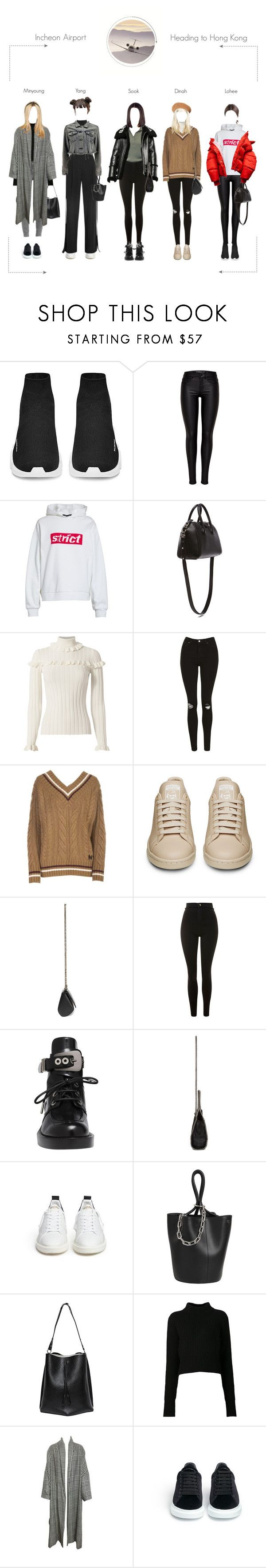 """Incheon Airport Heading To Hong Kong"" by spicegirls-official ❤ liked on Polyvore featuring Alexander Wang, Givenchy, Cinq à Sept, Topshop, N°21, FARIS, Balenciaga, STELLA McCARTNEY, Golden Goose and Maison Margiela"