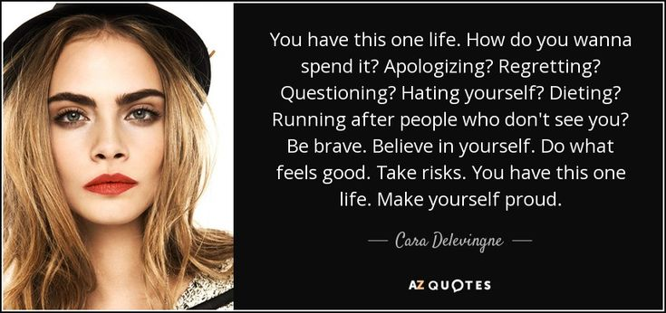 TOP 25 QUOTES BY CARA DELEVINGNE | A-Z Quotes