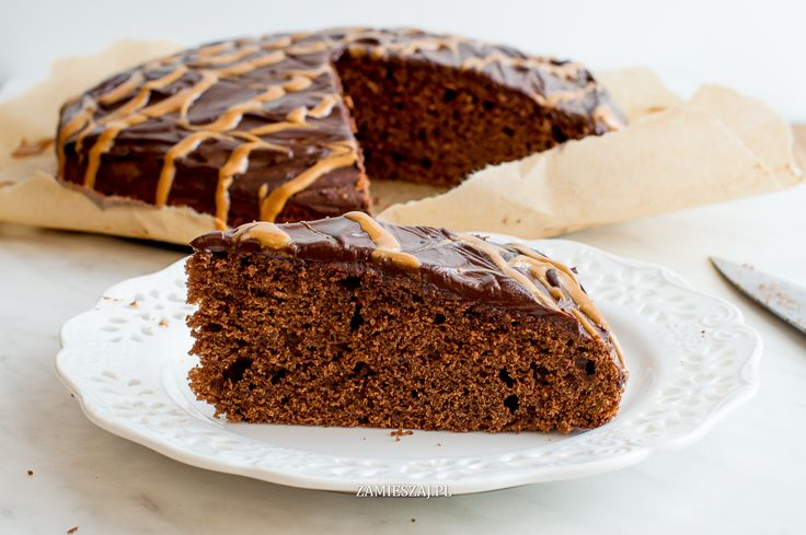 Chocolate cake with peanutbutter