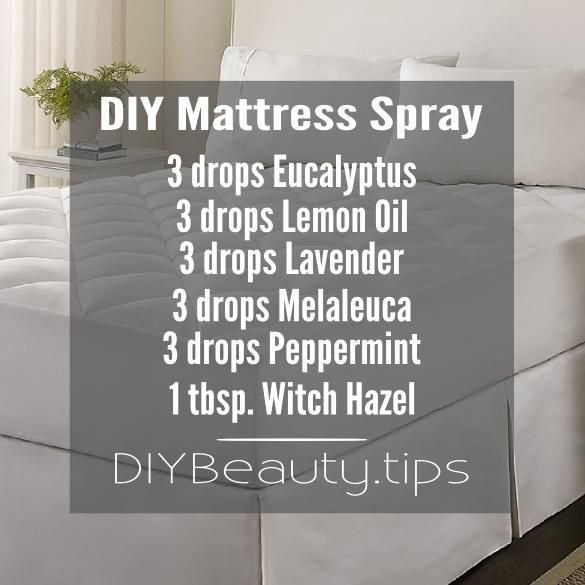 Keep your mattress smelling fresh, clean and keep away those annoying insects with this diy mattress spray you can make at home!