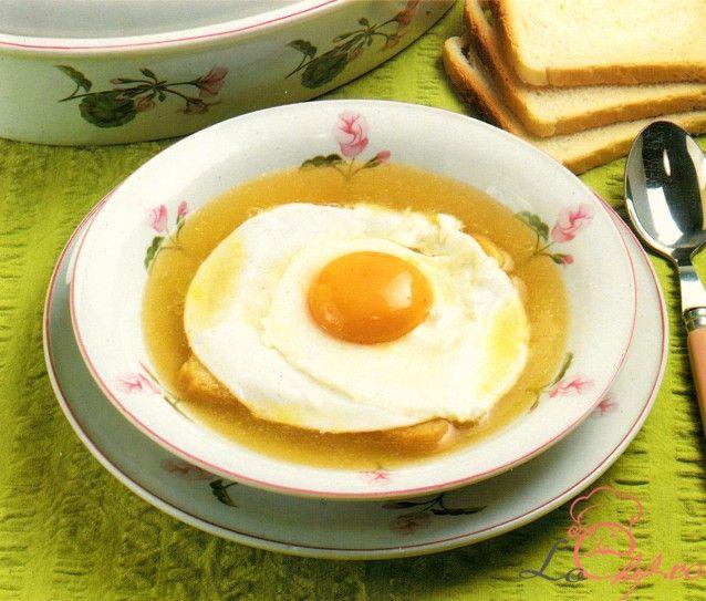 Supă ţărănească cu ou