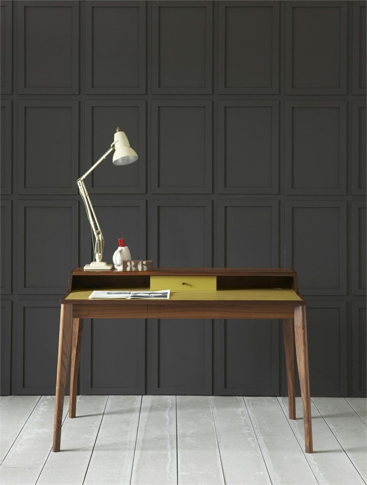 Solid wood secretary #desk YVES by PINCH | #design Russell Pinch