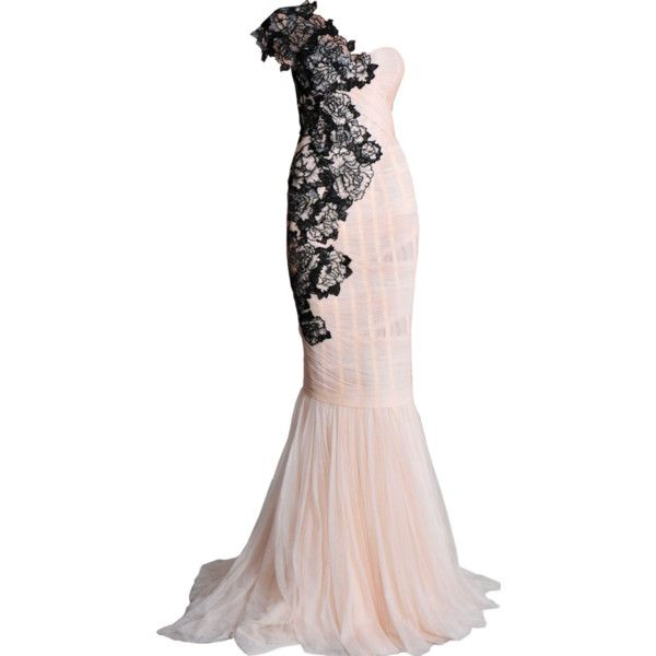 Marchesa - edited by Satinee ❤ liked on Polyvore featuring dresses, gowns, vestidos, long dresses, marchesa evening dresses, marchesa, marchesa gown and marchesa evening gowns