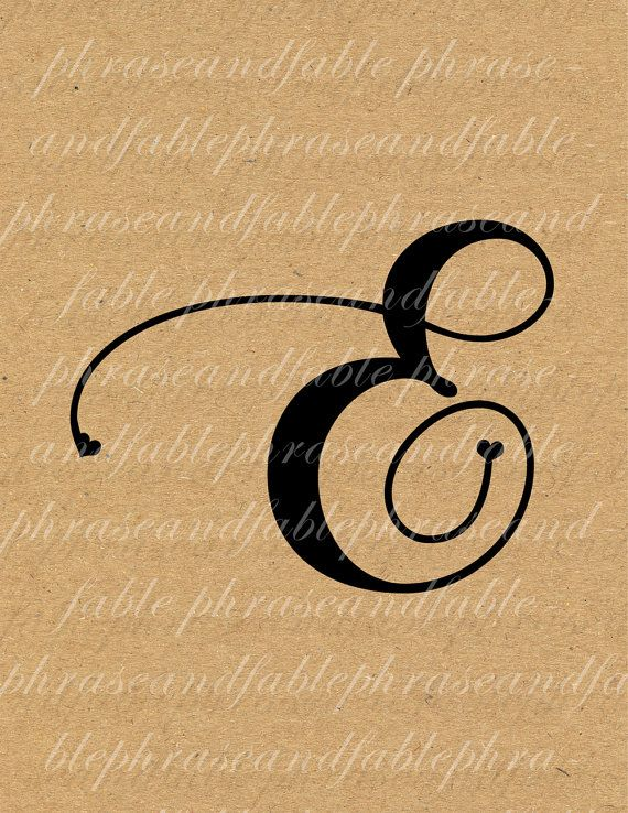 Buchstabe E Herzen 276 digitaler Download von phraseandfable