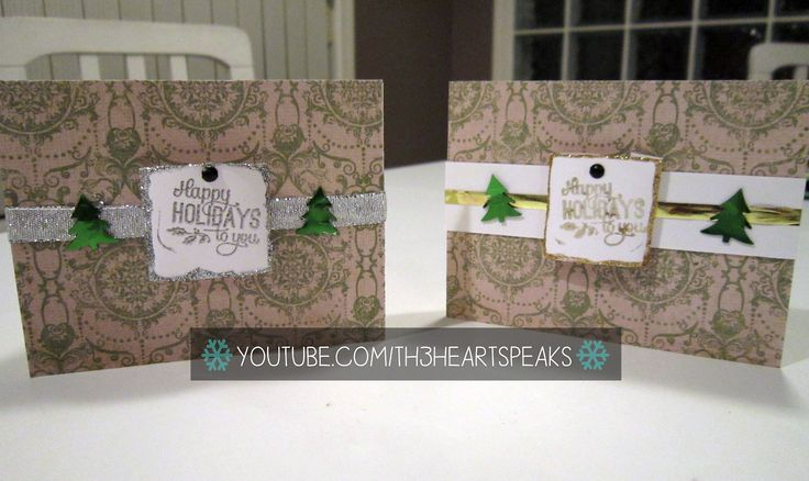 I love using confetti on cards, and brads as well!  #th3heartspeaks #diycards #christmas #holiday   Tutorial on https://www.youtube.com/watch?v=E5rCtKH4VQo