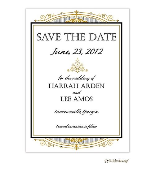 Gatsby Save The Date Invitations & Announcements
