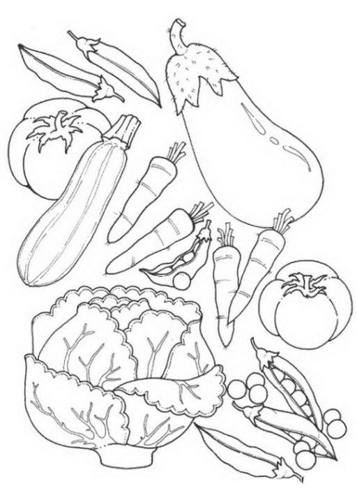 ausmalbilder gesunde ernährung