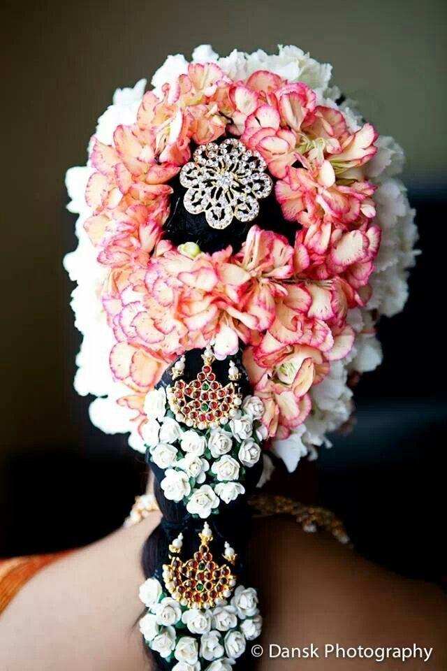 South Indian bride hair do