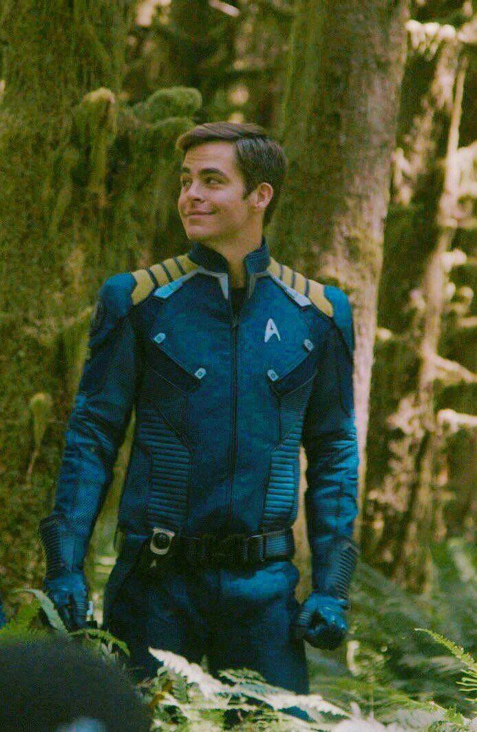 Chris Pine as Captain James Tiberius Kirk