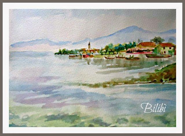 Bilibì: Paesaggio ad acquerello da una foto
