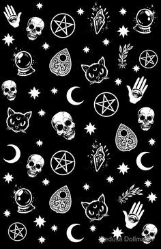 """""""Witch Pattern"""" Stickers by Medusa Dollmaker   Redbubble"""