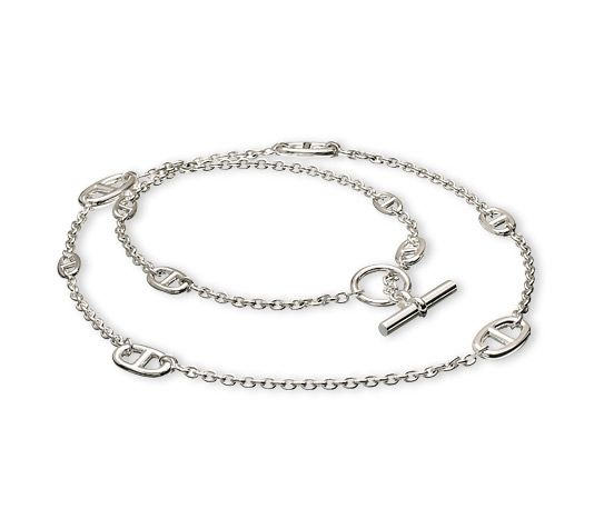 ADORABLE long necklace!!! Of course I would die for this! Everyday necklace! - Hermes - Farandole Silver Necklace