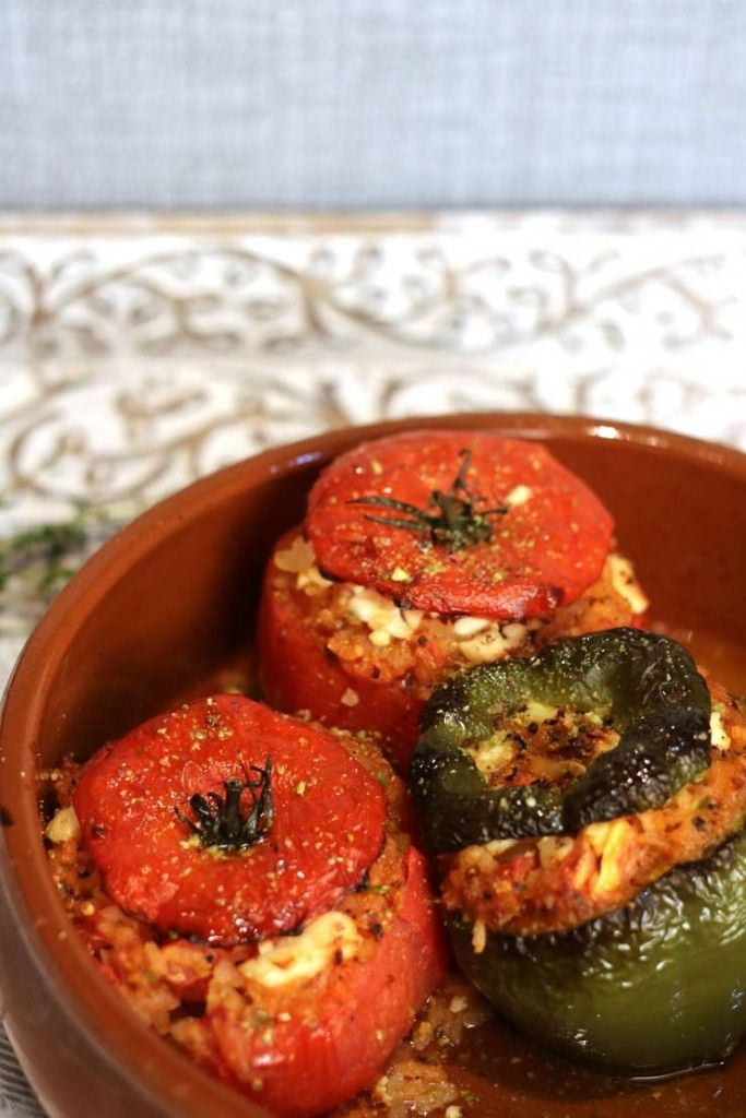 Stuffed Tomatoes With Feta Cheese And Rice Greek Recipes Healthy Homemade Recipes Recipes