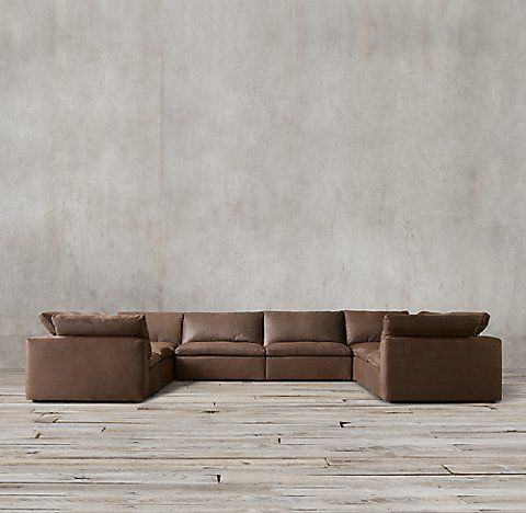 RH's Cloud Modular Leather Sectionals
