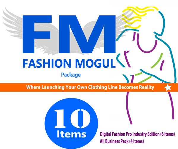 Fashion Mogul Business and Design Kit for helping you start a clothing line, design your own clothes and work with manufacturers