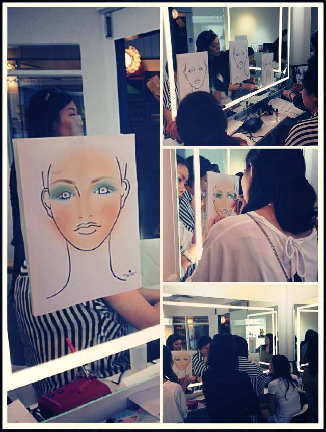 Airbrush makeup training pics