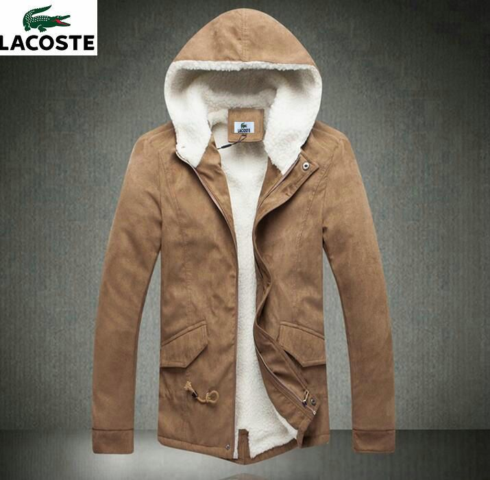 Doudoune Lacoste Homme Trek Grand luxe Chic Parka longue Fashion Men Outwear Khaki.jpg (715×701)