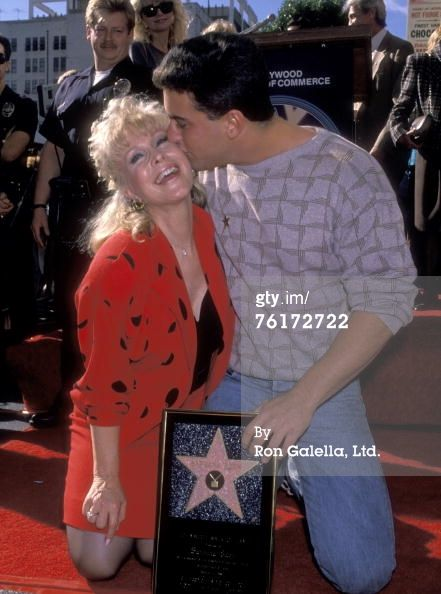 HOLLYWOOD - NOVEMBER 17: Actress Barbara Eden and son Matthew Ansara attend the 'Hollywood Walk of Fame Ceremony Honoring Barbara Eden with a Star' on November 17, 1988 at 7003 Hollywood Boulevard in Hollywood, California. (Photo by Ron Galella, Ltd/WireImage)