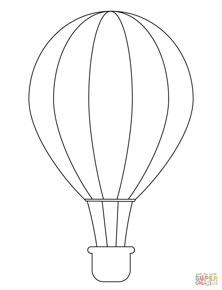 Simple Hot Air Balloon coloring