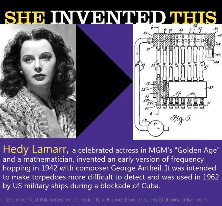Today marks the 101st birthday of actress and inventor Hedy Lamarr -- the glamorous movie star from the black-and-white era of film who co-invented a device that helped make possible the development of GPS, Bluetooth, and Wi-Fi technology!   Born in Austria in 1914, the mathematically talented Lamarr moved to the US in 1937 to start a Hollywood career.