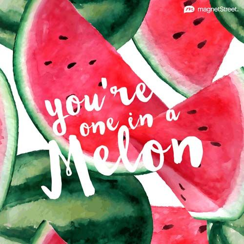 Funny Wedding Quote     You're one in a Melon     MagnetStreet.com