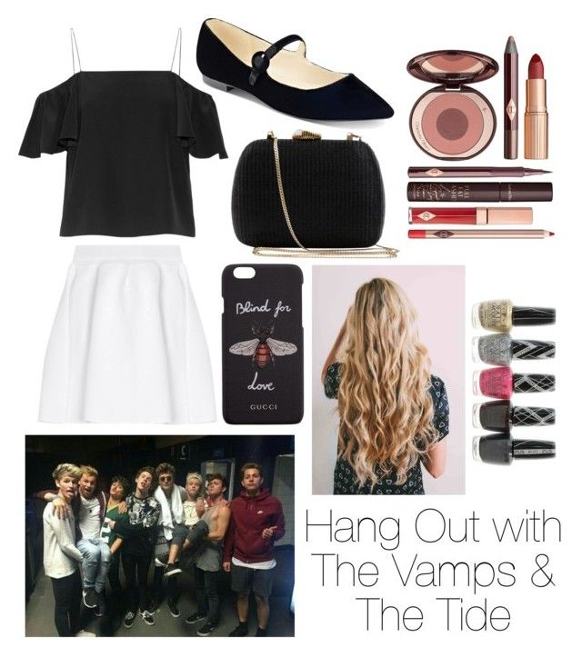 """Hang out with The Vamps and The Tide"" by beatrigitaa on Polyvore featuring Fendi, malo, Marc Fisher, Serpui, Gucci, Charlotte Tilbury and OPI"