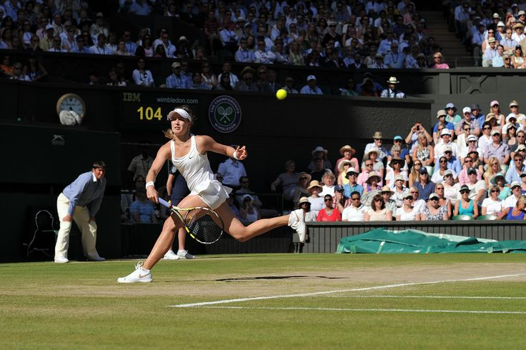 Eugenie Bouchard on Centre Court - Jon Buckle/AELTC