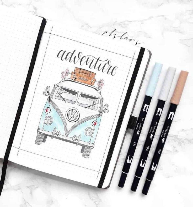 50+ Travel Inspired Bullet Journal Spreads
