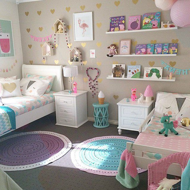My Girls Are 9 And 5 Years Old Now And They Have Shared A Room For About 2 Years Shared Girls Bedroom Girl Bedroom Decor Girls Room Decor