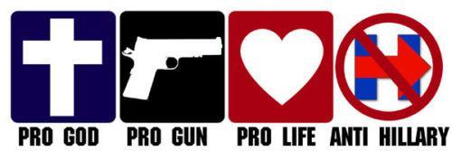 3x9-inch-Pro-God-Guns-Life-ANTI-HILLARY-Bumper-Sticker-no-clinton-go-trump-bern