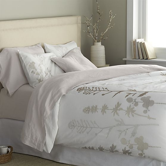 Woodland duvet covers and pillow shams for Crate barrel comforter
