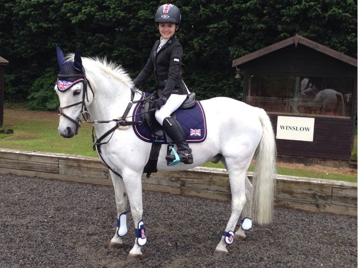 Thanks for the photos Teigan. Your horse looks fab dressed in our John Whitaker products! #johnwhitakerint #equestrian #blue #white #red #compete #win