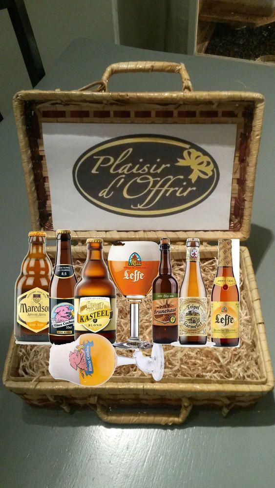 abonnement 3 mois coffret biere blonde  bouteilles differentes + 2 verre a biere