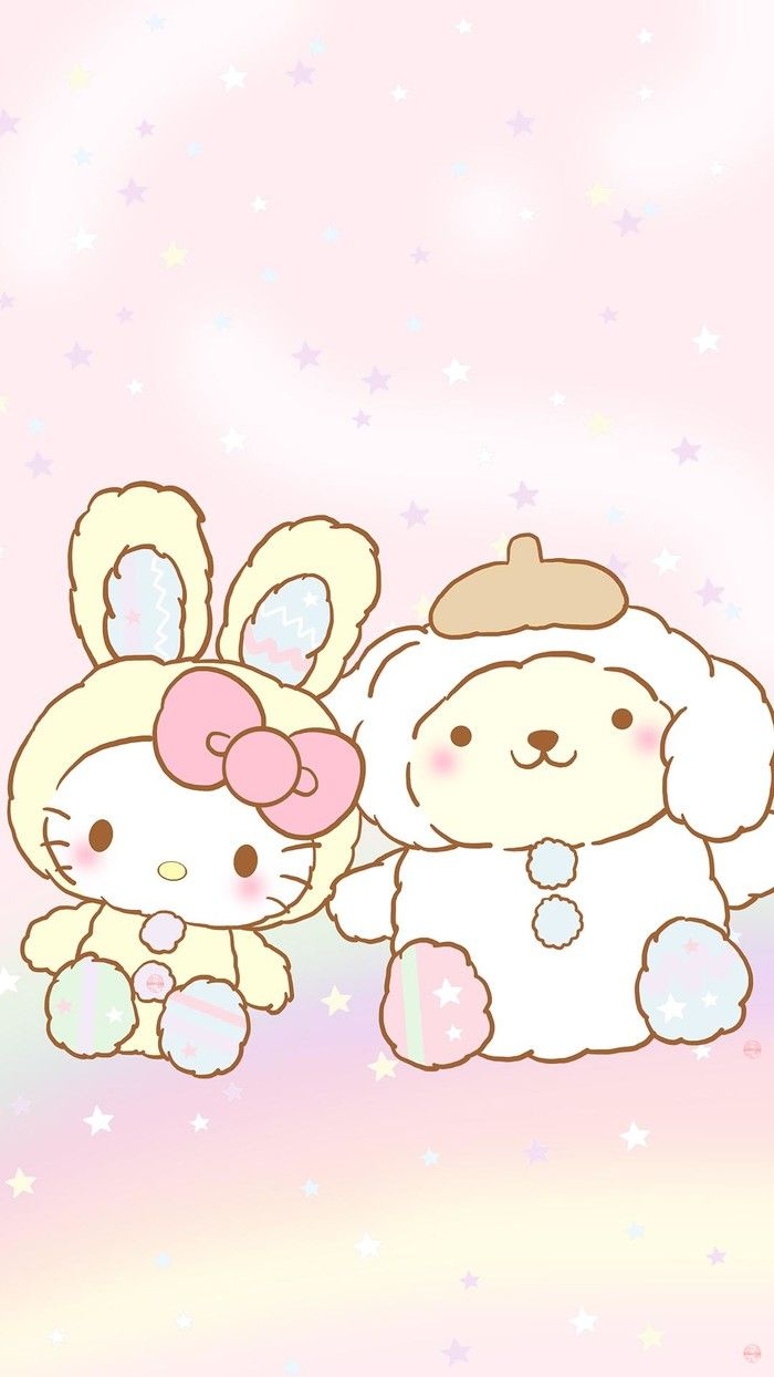 Kitty and pompompurin