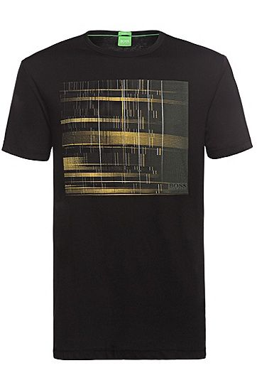 'Tee' | Cotton Digital Graphic T-Shirt 'Tee' | Cotton Digital Graphic T-Shirt, Black