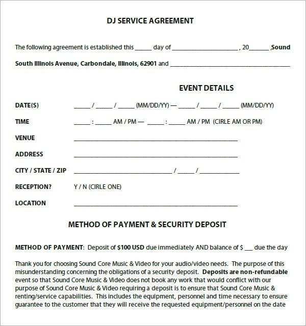 Dj Contract Template Pdf Elegant Dj Contract 12 Download Documents In Pdf Contract Template School Newsletter Template Free Templates