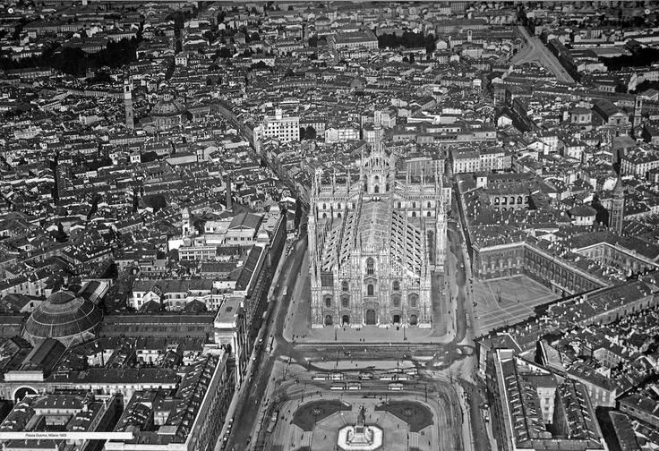 Vecchia Milano Piazza del Duomo 1924