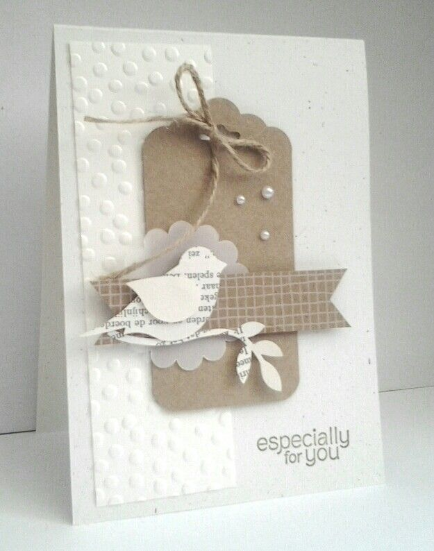 Kraft en offwhite fms 155 - Stampin' Up! Bird Builder Punch
